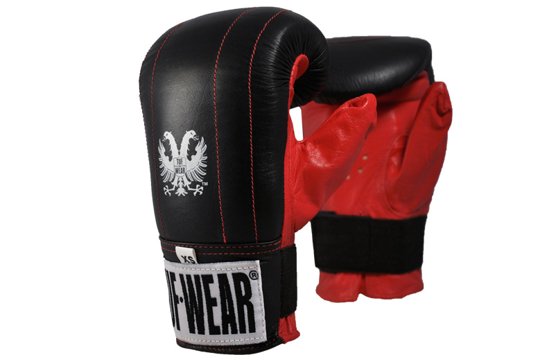 RED TUF WEAR THOR SAFETY SPAR LEATHER WITH RECESSED STRAP BOXING GLOVES